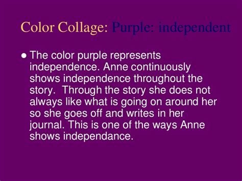 color symbolism in the great gatsby purple annefrank ela