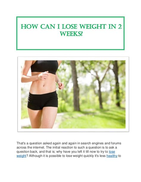 can i lose weight by in my room how can i lose weight in 2 weeks