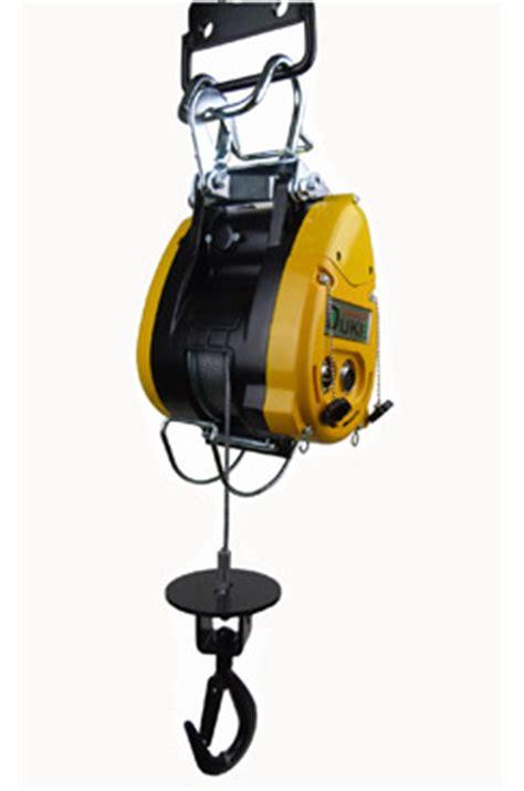 Winch Electric 1 Ton wire rope hoist wll 500kg 110 volt 40mtr duke du500a 110v safetyliftingear
