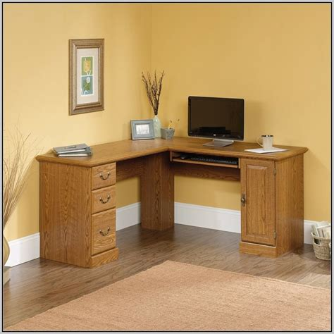 Corner Desk With Storage Oak Effect Desk Home Design Oak Effect Corner Desk