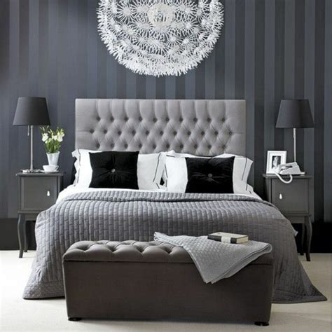 black white silver and gold bedroom
