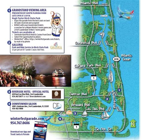 winterfest boat parade route map of the parade route the seminole hard rock