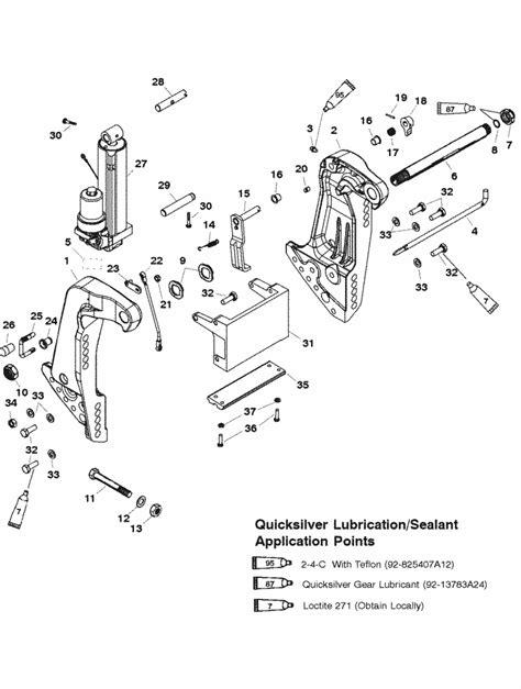 Mercury Marine 75 Hp 3 Cylinder Transom Bracket Manual