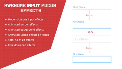 css layout effects input focus effects with css designbeep