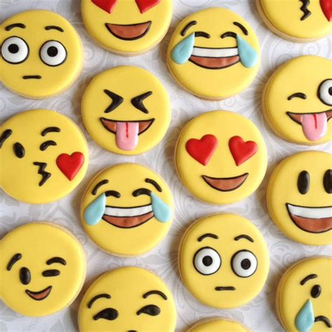 decorated cookies ideas emoji emoticon cookies one dozen decorated sugar