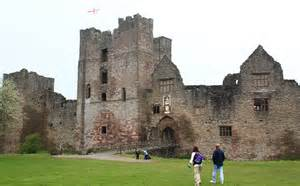 Curtain Wall On A Castle Ludlow Castle