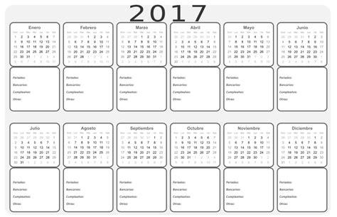 calendario clipart clipart calendario 2017 b n meses