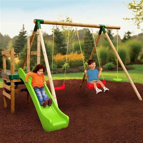 tikes swing slide tikes hamburg swing and slide outdoor garden