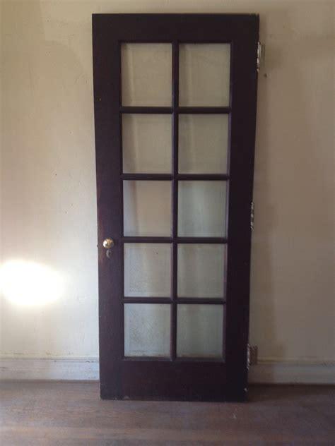 Beveled Glass Doors Interior Vintage Interior Wood Door Beautiful Krinkle Beveled Glass 349 99 Picclick