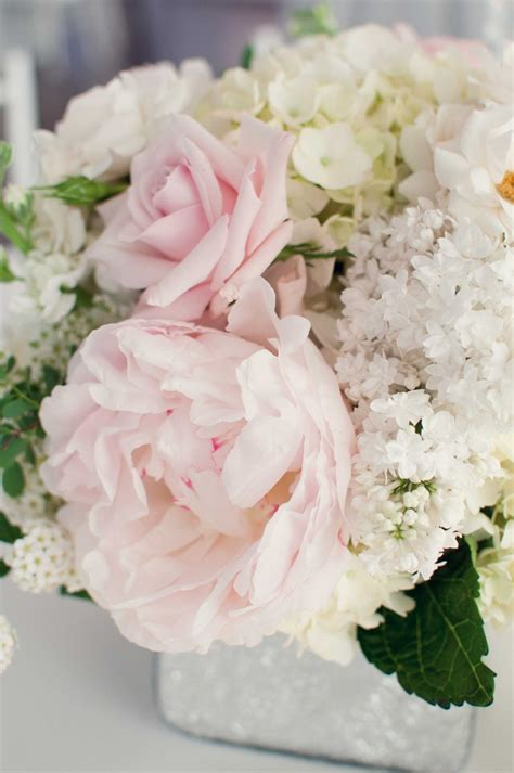 Wedding Cylinder Vases Centerpiece Ideas Peony Centerpiece With Some Texture From White Lilac I M
