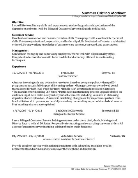 bilingual resume exles sle resume with bilingual skills resume ixiplay free