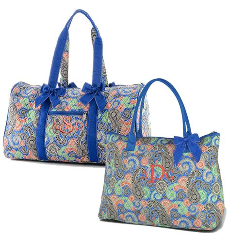 personalized quilted bags monogrammed embroidered