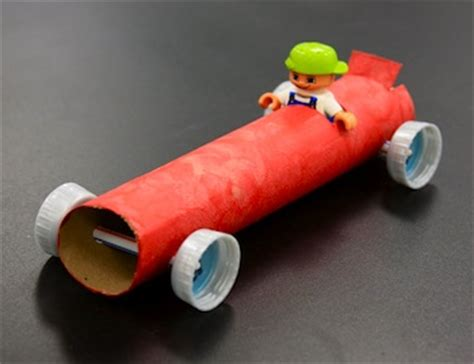 Toilet Paper Roll Car Craft - things to make and do crafts and activities for