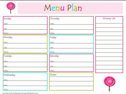 organized home printable menu planner free menu planner home organization pinterest