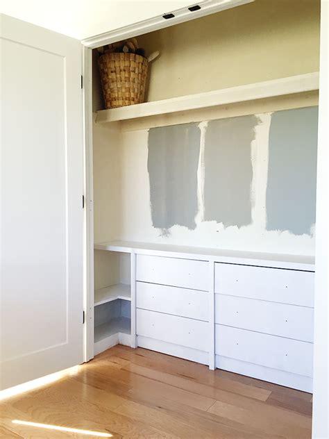 Built In Dresser Closet by A Modern Boy S Room Oneroomchallenge Week 3