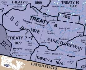 treaty map canada canadian nations treaty 6 1876