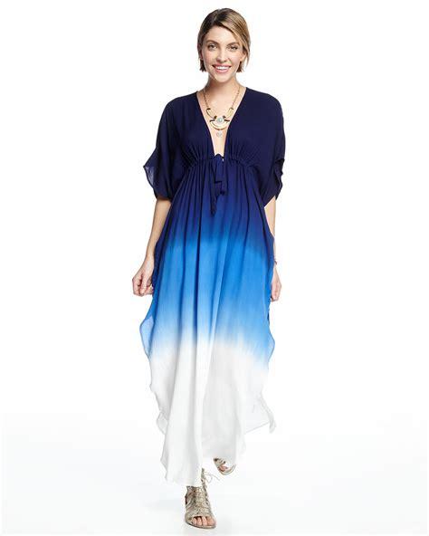 Julie Navy Dress fabulous julie ombre drawstring maxi dress in blue lyst