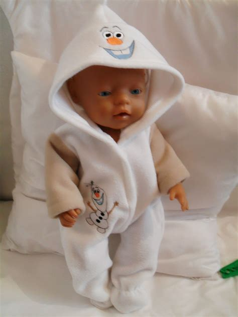 Baby Born Wardrobe For Dolls by Olaf Frozen Onesie Dolls Clothes To Fit 43cm Baby Born