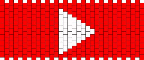 pattern music youtube youtube play button pony bead patterns misc kandi