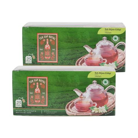 Teh Celup Binahong Dengan Teh Hijau jual teh cap botol hijau teh celup 2 pcs isi 25 tcbh25 harga kualitas terjamin