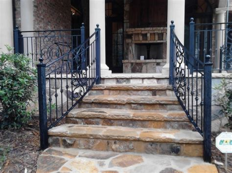 Outdoor Banisters And Railings by Exterior Wrought Iron Handrail Railing Mediterranean