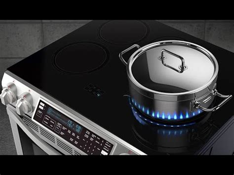 flames beneath your pot with samsung s new induction cooktop