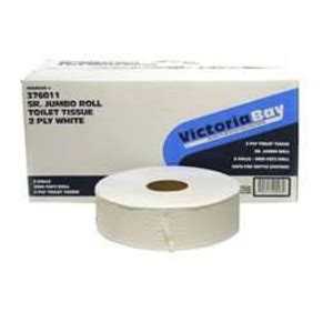 victoria bay white  ply sr jumbo toilet tissue blue dot janitorial supplies