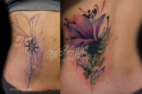watercolor tattoos cover up cover up tattoos for flower coverup by