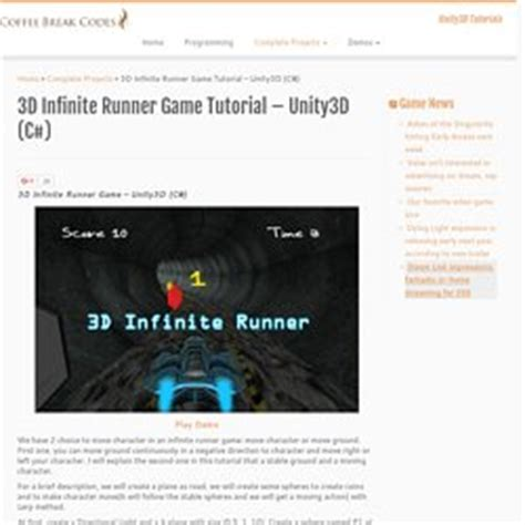 construct 2 infinite runner tutorial unity3d laurent357 pearltrees