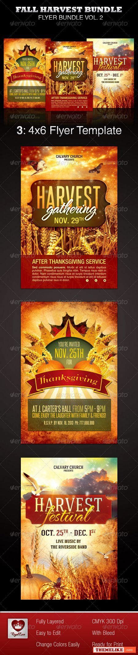 Graphicriver Harvest Festival Church Flyer Template All Design Template Photoshop Vector Harvest Festival Flyer Free Template