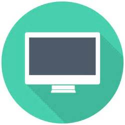 schreibtisch icon imac icon flat multimedia iconset designbolts