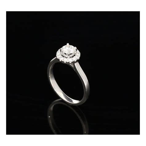 milton s secondhand platinum halo engagement ring 0 70ct
