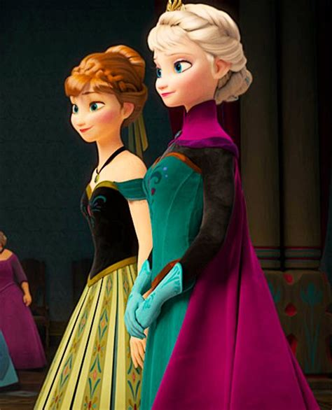 film elsa and anna i love how you can easily see they re sisters they have