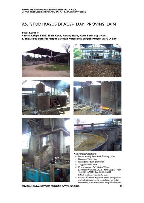 Daftar Minyak Kelapa Sawit panduan pembangunan pabrik kelapa sawit mini
