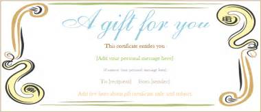 abstract border gift certificate template