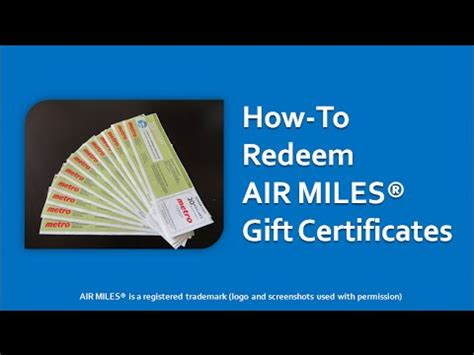 Redeeming Air Miles For Gift Cards - air miles rewards canada