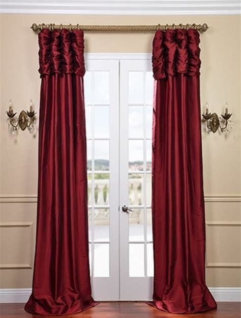 ruched curtains ruched bold red curtain traditional curtains san