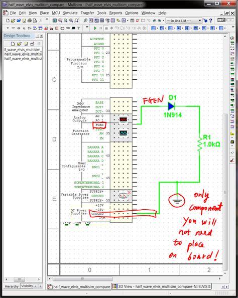 breadboard circuit of half wave rectifier 4 breadbording and correctness verification circuit simulation and design using