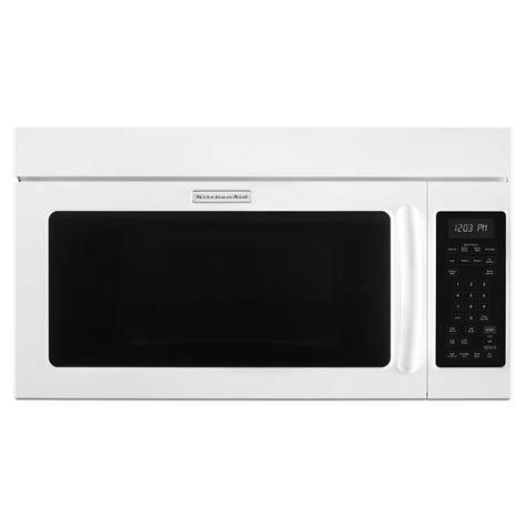kitchenaid microwave hood fan kitchenaid khms2040bwh 2 0 cu ft microwave hood