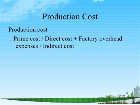 Uf Mba Finance Charges by Manufacturing Account Ppt Mba Finance