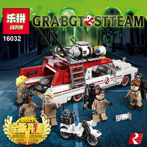 Brick Lepin 16032 Ghostbusters Ecto 1 2016 downtheblocks