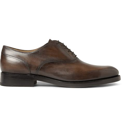 leather oxford shoes berluti verona leather oxford shoes in brown for lyst