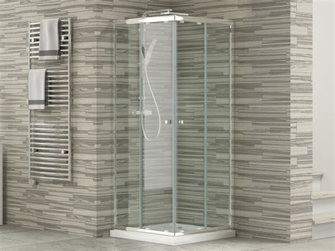 doccia 80x80 box hit 80x80 h185 rev 4mm trasp cromo iperceramica