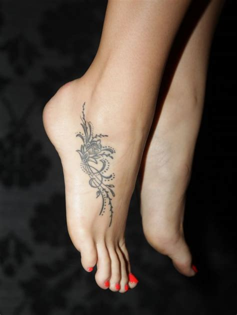 tattoo design for feet gorgeous black lace foot tattoo tattoomagz