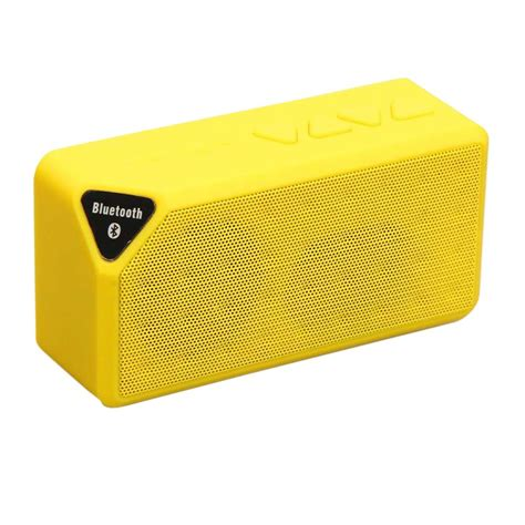 Speaker Bluetooth Icuans ipm icon bluetooth speaker yellow ipmicon y the home depot