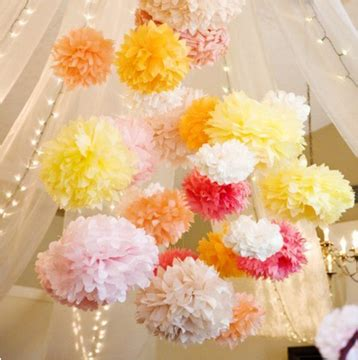Tissue Paper Flowers Hanging Decoration by Wholesale 30cm Tissue Paper Pom Poms Flower Balls Hanging