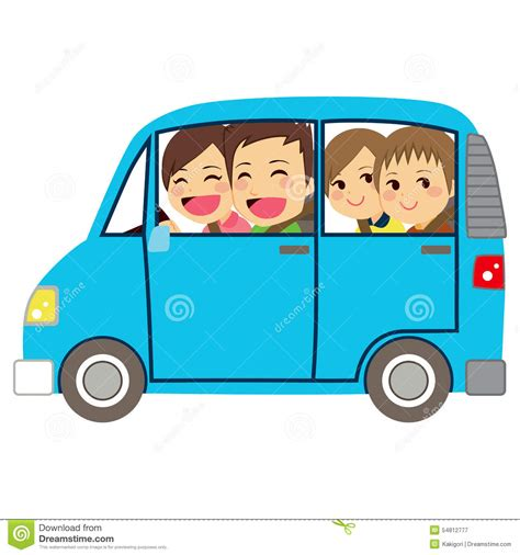 family car clipart family car minivan stock vector illustration of