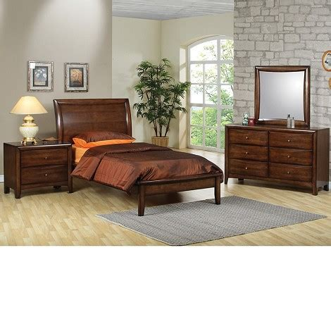 bedroom sets phoenix dreamfurniture com phoenix collection bedroom set walnut