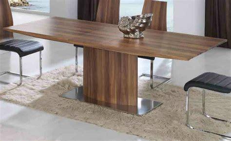 mesas de comedor modernas mesa comedor moderna extensible nogal 916 02 mobles sedav 237