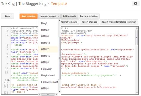 get started with new blogger template html editor